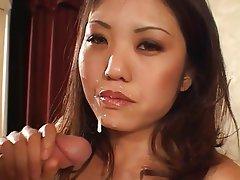 Interracial Asian Big Boobs Brunette Facial