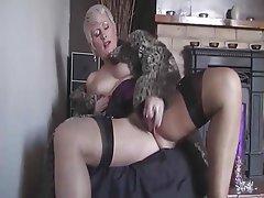 Blonde Masturbation Mature MILF Stockings