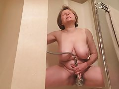 Masturbation Mature MILF Orgasm Shower