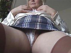 British Masturbation Mature MILF Pantyhose