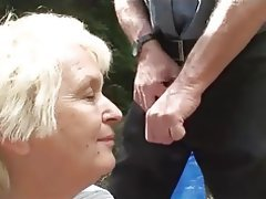 Granny Mature Old and Young Outdoor Saggy Tits