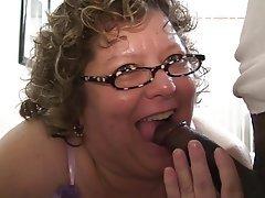 BBW Blowjob Granny Interracial Mature
