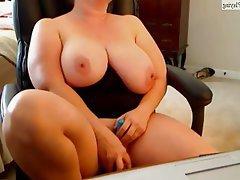 BBW Big Boobs Masturbation MILF Webcam