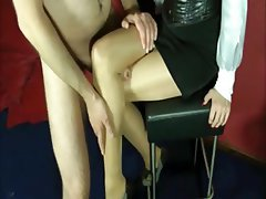 Handjob Masturbation Mature MILF Stockings