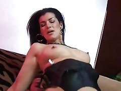British Cum in mouth Double Penetration Stockings Mature