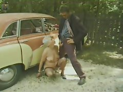 Mature Vintage Old and Young Granny Outdoor