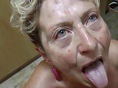 Blowjob Cumshot German Granny Mature