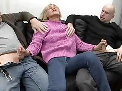 Facial German Granny Mature Threesome