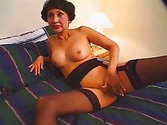 Asian Facial Granny Mature Stockings