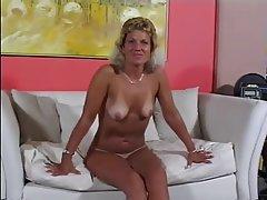 Blonde Blowjob Cumshot Mature MILF