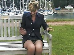 Amateur British Mature MILF Stockings