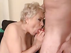 Blonde Facial Granny Mature Small Tits