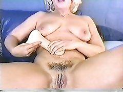 Handjob Masturbation Mature Blonde