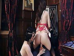 British Hardcore Stockings Threesome