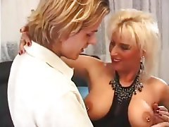 Blonde German Mature MILF Stockings