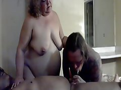 Amateur Bisexual Blowjob Threesome
