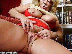 Granny Masturbation Mature MILF Pantyhose